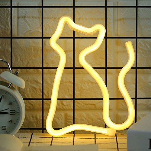 Cat Neon Signs Light LED Neon Art Decorative Sign Lights Wal