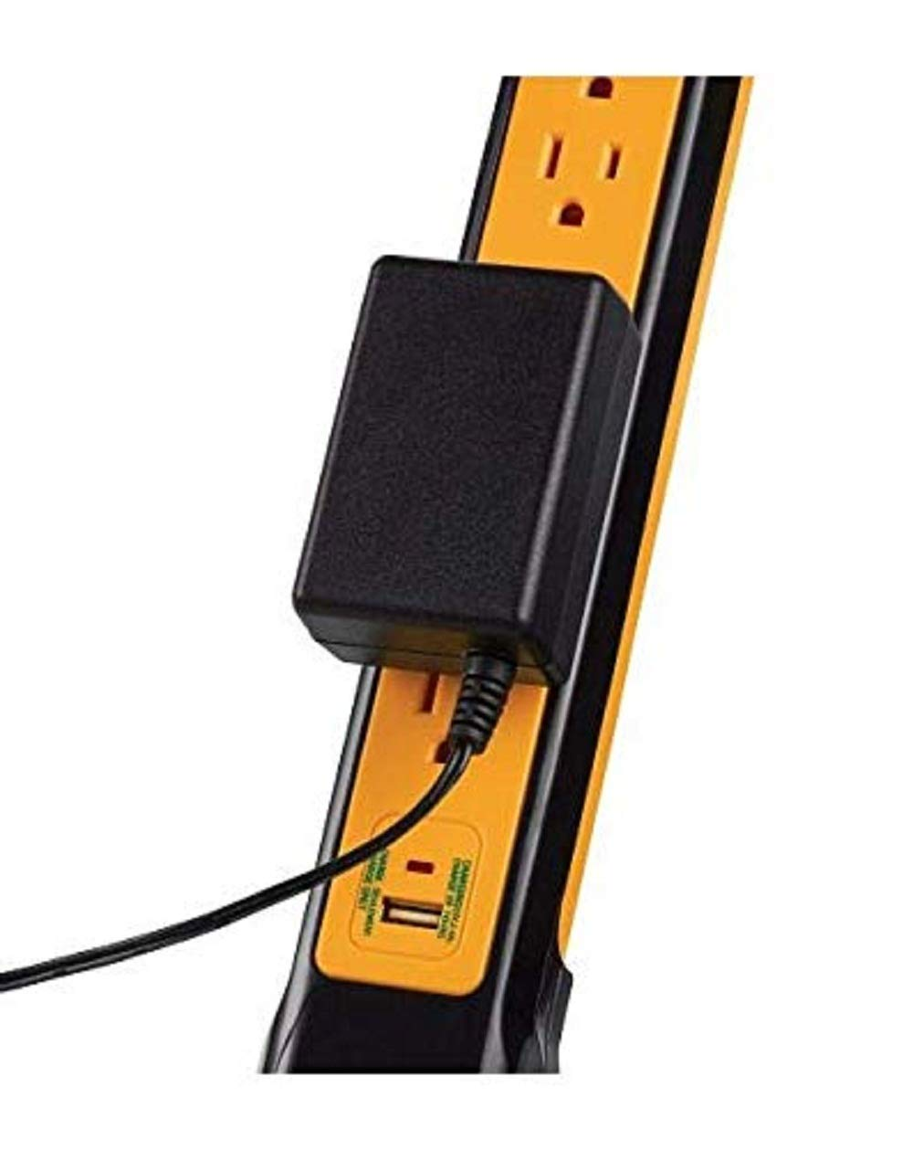 Mastercraft 6-Outlet Power Bar with USB Outlet Compatible for Home /& Office