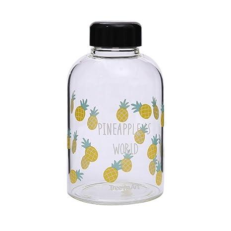 XYTMY Cristal Botella de Agua Botella ecológica Martillo de Adorable para Bebidas y exprimidor Uso con
