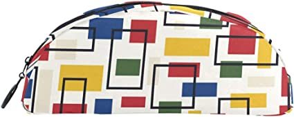 Estuche colorido geométrico a cuadros, bolsa con cremallera, bolsa de maquillaje, papelería para niños, adolescentes, niñas, escuela: Amazon.es: Oficina y papelería