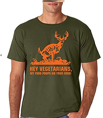 Raw T-Shirt's Hey Vegetarians - My Food Poops On Your Food Deer Hunt Premium Men's T-Shirt