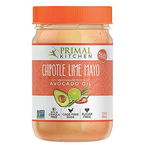 Primal Kitchen Avocado Oil Mayo / Mayonnaise Chipotle Lime, Paleo, Whole30 12 Oz   Pack of 3