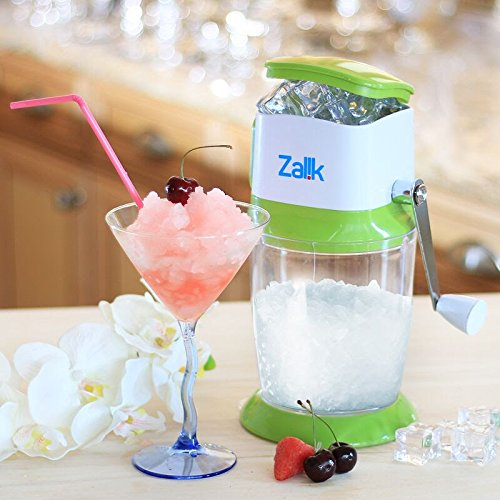 Zalik Ice Crusher Manual Hand Crank Ice Grinder For Fine Or Coarse Pieces - Strongest Heaviest Duty With Large 50 OZ Bucket - 430 Stainless Steel Blade - Essential Kitchen Tool - Bar Accessory by Zalik (Image #2)