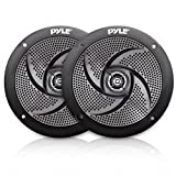 Pyle Marine Speakers - 5.25 Inch Low Profile Slim Style Waterproof Wakeboard Tower and Weather Resistant Outdoor Audio Stereo Sound System with 180 Watt Power - 1 Pair in White (PLMRS5B)