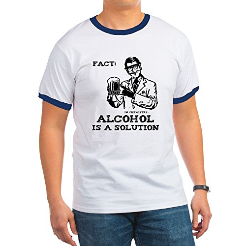 CafePress - Alcohol is a Solution Ringer T - Ringer T-Shirt, 100% Cotton Ringed T-Shirt, Vintage Shirt