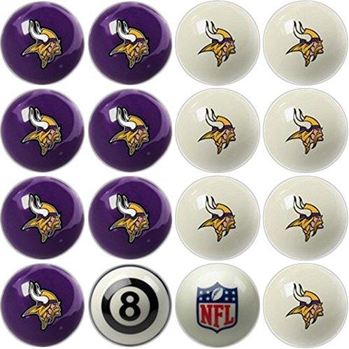 (Imperial Officially Licensed Minnesota Vikings Football Billiard Pool Cue Ball Set)