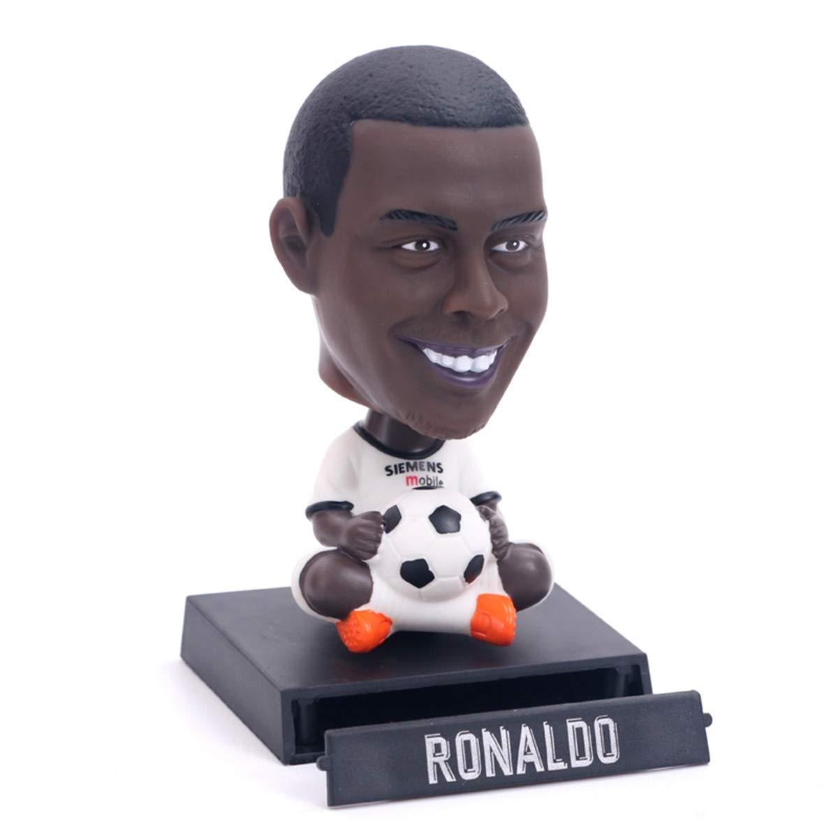 Versione D della stella del calcio Messi//Ronaldo//Neymar//Ronaldo//Pogba scuotendo i suoi accessori auto bambola auto decorazione testa Color : D
