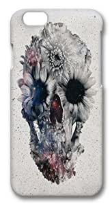 Floral Skull 2 Custom iphone 5/5s inch Case Cover Polycarbonate 3D