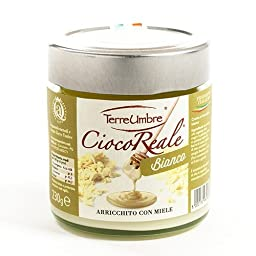CiocoReale White Chocolate and Honey Spread by Terre Umbre (230 gram)
