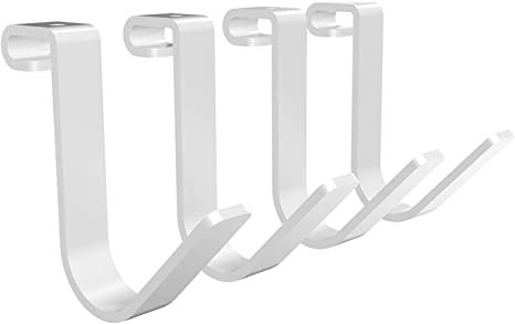 Amazon Com Fleximounts Add On Storage Hook Accessory For Ceiling Racks And Wall Shelving 4 Pack Rail Hook X 4 White Home Improvement
