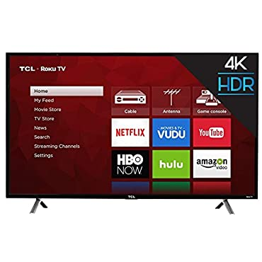 "TCL 49S405 49"" 4K Ultra HD Roku Smart LED TV (2017 Model)"