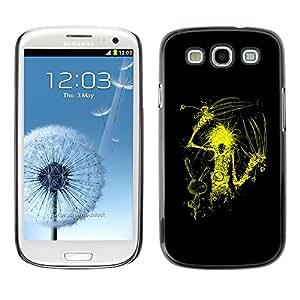 TECHCASE**Cubierta de la caja de protección la piel dura para el ** Samsung Galaxy S3 I9300 ** Yellow Scissor Hand