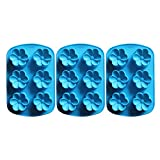 Baidecor Flower Silicone Chocolate Molds Candy Mold Set Of 3