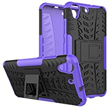 HUAWEI Y6II Heavy Duty Case DWaybox Hybrid Rugged Armor Hard Back Cover Case for HUAWEI Y6II / Y6 II / Y6 2 (2016) / Honor Holly 3 / Honor 5A 5.5 Inch Stand Case with Kickstand (Purple)