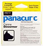 Panacur C Canine Dewormer Dogs 1 Gram Each Packet Treats 10 lbs 3 Packets for Small dogs