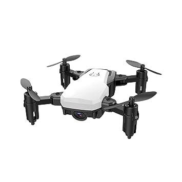 WANGKM Mini Plegado Fotografía aérea Drone Quad-Axis Aviones WiFi ...