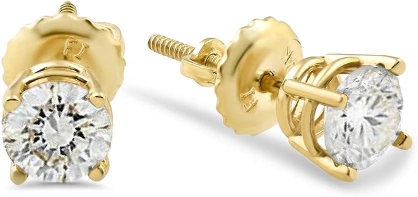 14k Earring Post Screw Back. 14k Solid Gold Earring Screw Back