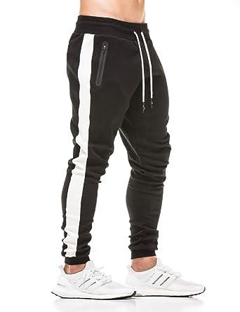 3e24ce8362799 Amazon.com: FLYFIREFLY Men's Gym Sport Pants Bodybuilding Workout Running  Jogger Slim Fit Sweatpants: Clothing