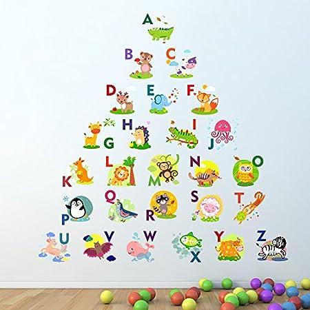 Cosanter Puzzle /Éducation pr/écoce Stickers muraux La chambre des enfants Maternelle Apprendre Anglais Autocollants alphabet Protection de lenvironnement Autocollant