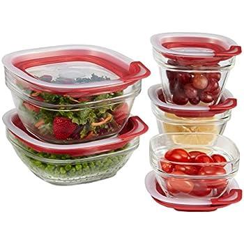 Amazon.com: Rubbermaid Easy Find Lids Glass Food Storage