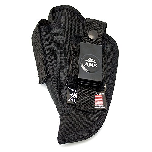 Belt Clip Concealed Gun Holster by American Mountain Supply for Compact Semi Automatic Pistols - Fits Large Frames With 4-5