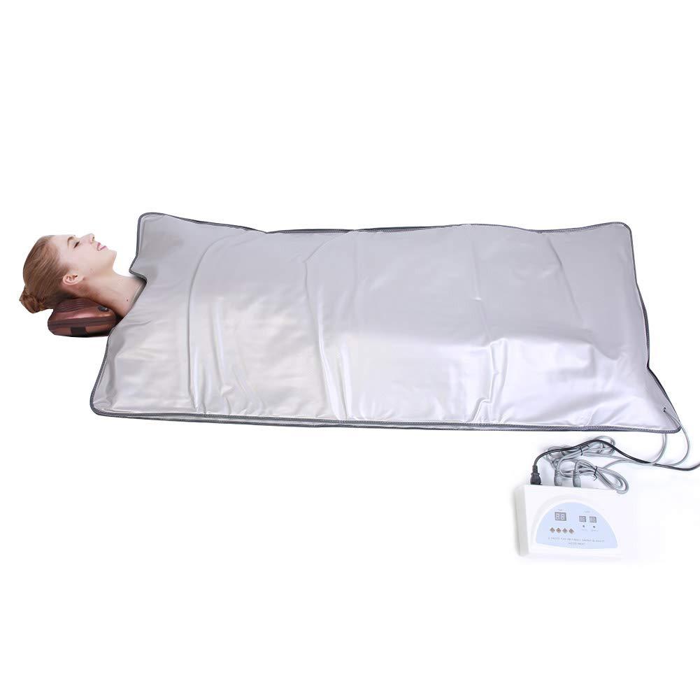 Sauna Blanket, 220V Far Infrared Sauna Heating Blanket Body Shape Slimming Fitness Therapy Machine for SPA Beauty Salon GOTOTOP