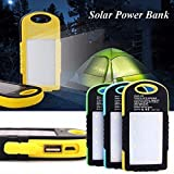 Sunyounger Power Brown Color Portable Charger 8000mAh Solar Charger Universal Mobile Power Bank Camping Light Solar Light Flashlight Battery Charger for iphone ,smart phone,camera