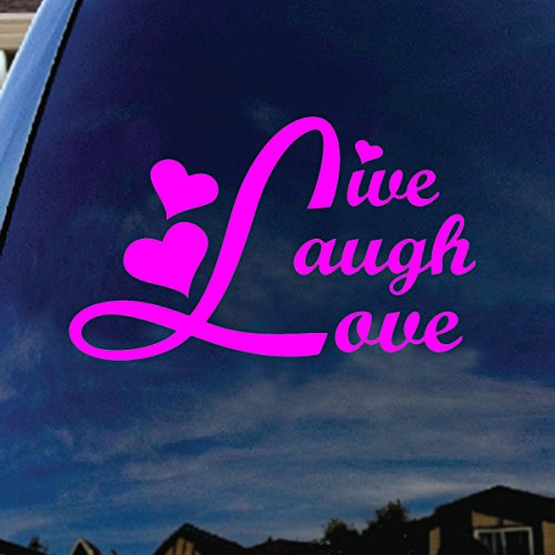 Live Laugh Love Pink Car Window Vinyl Decal Sticker 5