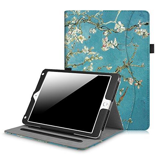 Fintie iPad 9.7 Inch 2017 / iPad Air 2 / iPad Air Case - [Corner Protection] Multi-Angle Viewing Folio Stand Cover w/ Pocket, Auto Wake / Sleep for Apple iPad 2017 Model, iPad Air 1 2, Blossom