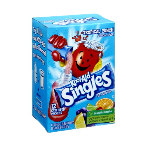 Kool-Aid Singles Tropical Punch Soft Drink Mix- 12 CT