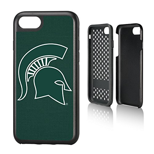 Keyscaper KRGDI7-0MST-SOLID1 Michigan State Spartans iPhone 8/7 Rugged Case MSU Solid Design