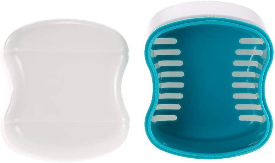Tianzhiyi Outils de Soins du Corps Boîte de Bain pour prothèses dentaires Faux Dents Nettoyage de récipients de Nettoyage Panier de rinçage Dispositif de retenue Support pour Appareil
