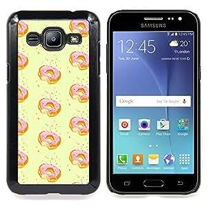 - doughnut yellow pink sprinkle sweet - - Modelo de la piel protectora de la cubierta del caso FOR Samsung Galaxy J2 RetroCandy