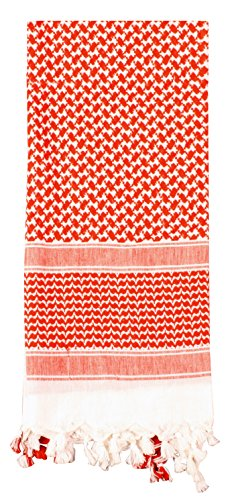 Rothco Shemagh Tactical Desert Scarf, RED/WHITE by Rothco