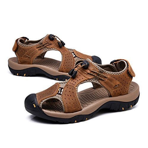 038bb7496695 VENSHINE Mens Sports Sandals Summer Leather Outdoor Fisherman Beach  Athletics Walking Hiking Sandals - Buy Online in UAE.