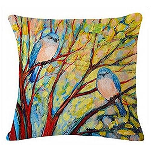 Birds Throw Pillows Amazon Mesmerizing Decorative Throw Pillows With Birds