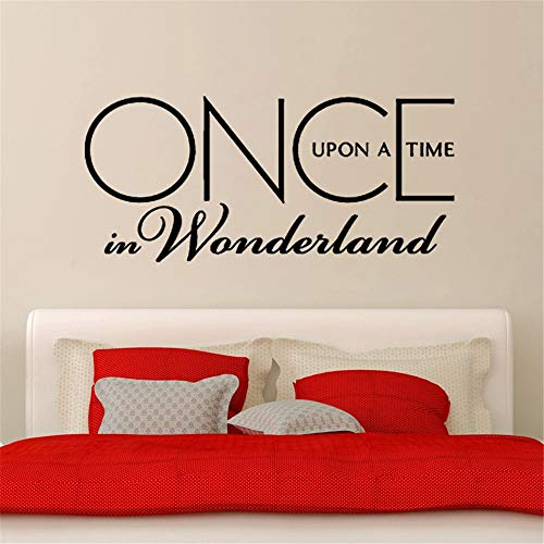 Vinyl Wall Statement Family DIY Decor Art Stickers Home Decor Wall Art Sticker Romantic Once Upon A Time in Wonderland Living Room Bedroom Decoration (Once Upon A Time In Wonderland Home)