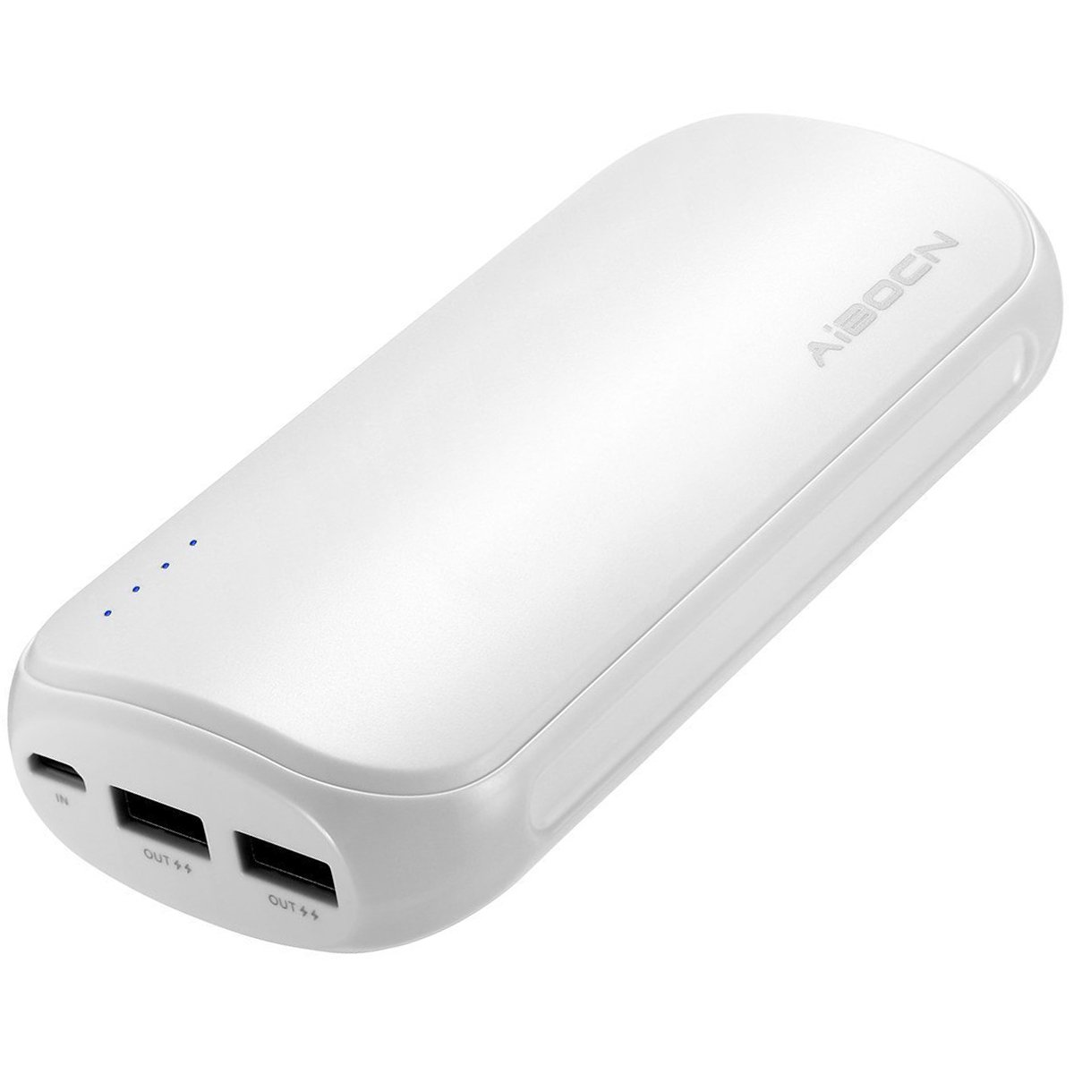 Aibocn Power Bank 16,000mAh Portable Charger External Battery with Fast Charging Technology for iPhone iPad Samsung Galaxy and More, White PC882-16000-3