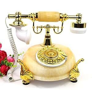 Jade moda estilo continental creativo teléfono dial giratorio teléfono teléfono casa teléfono , Golden