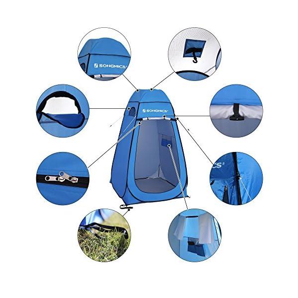 51vL9kt 0fL SONGMICS Pop-Up-Zelt, Toilettenzelt, Umkleiderzelt, für Outdoor, Camping, Angeln, Strand, Dusche, Toilette, Tragetasche…