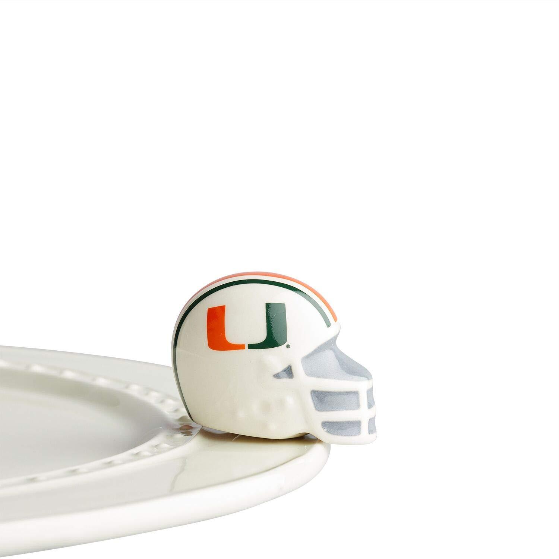 Nora Fleming Hand-Painted Mini: U Miami Helmet (University of Miami football helmet) A306