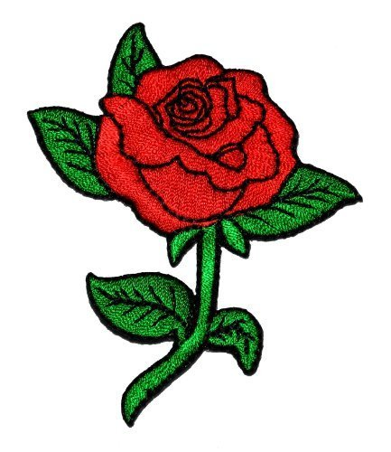 - Red Rose DIY Applique Embroidered Sew Iron on Patch RO-02
