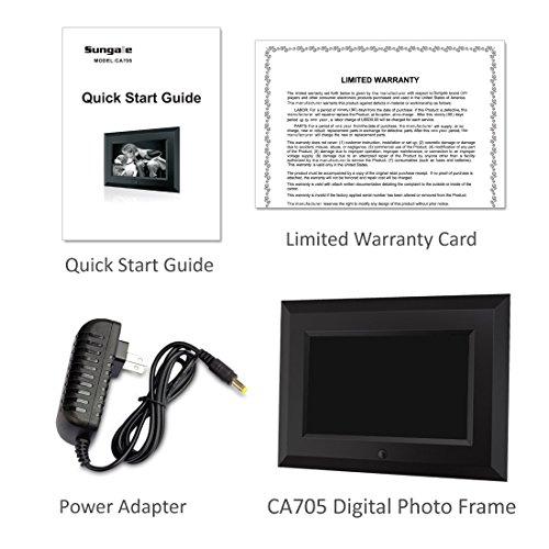 Sungale Ca705 7 Inch Digital Photo Frame Black Digital Photo