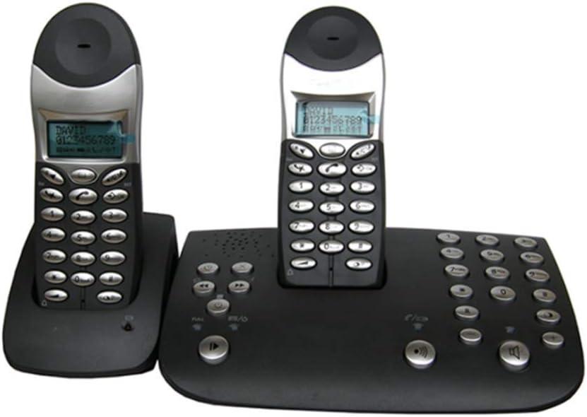 GUOOK Phon BotóN Vintagee Nuevo Identificador Llamadas TeléFono La Oficina En Casa Luminoso TeléFono InaláMbrico Digital TeléFono Viejo Bienvenido (Color: Blanco): Amazon.es: Hogar