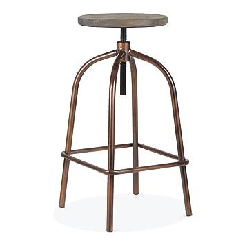 Cult Furniture Vinny Metall Drehhocker, Antikes Kupfer 65-83cm ...