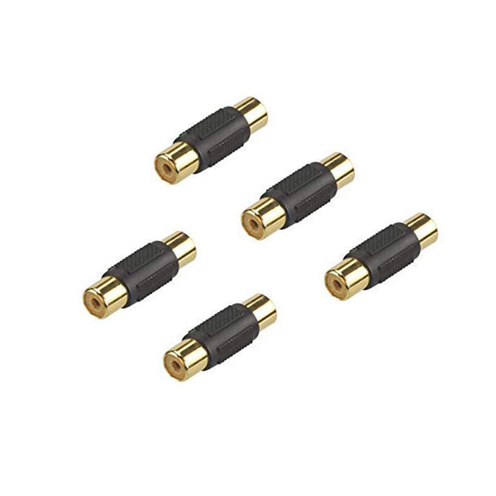 Gleewin 5パック RCAメス-メスカプラーアダプターコネクター   B07MPNJ9YG