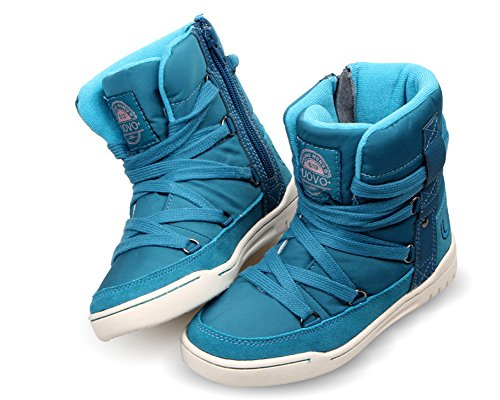 iDuoDuo Kids Casual Short Shaft Boots Side Zipper Waterproof Snow Boots Blue 13 M US Little Kid by iDuoDuo (Image #4)