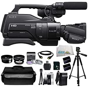 Sony HXR-MC2000 Shoulder Mount AVCHD Camcorder + Huge SSE Accessories Bundle Including .45x Wide Angle Lens, 2x Telephoto Lens, 3 Piece Multi-Coated Filter Kit, 8GB SD Memory Card, USB Memory Card Reader, HDMI Cable, 2 Extended Life Replacement Batteries, Rapid Travel Charger, Waterproof Carrying Case, 70 Inch PRO Tripod and Cleaning Kit