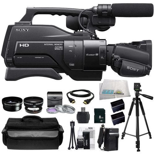 Sony HXR-MC2000 Shoulder Mount AVCHD Camcorder + Huge SSE Accessories Bundle Including .45x Wide Angle Lens, 2x Telephoto Lens, 3 Piece Multi-Coated Filter Kit, 8GB SD Memory Card, USB Memory Card Reader, HDMI Cable, 2 Extended Life Replacement Batteries, by SSE