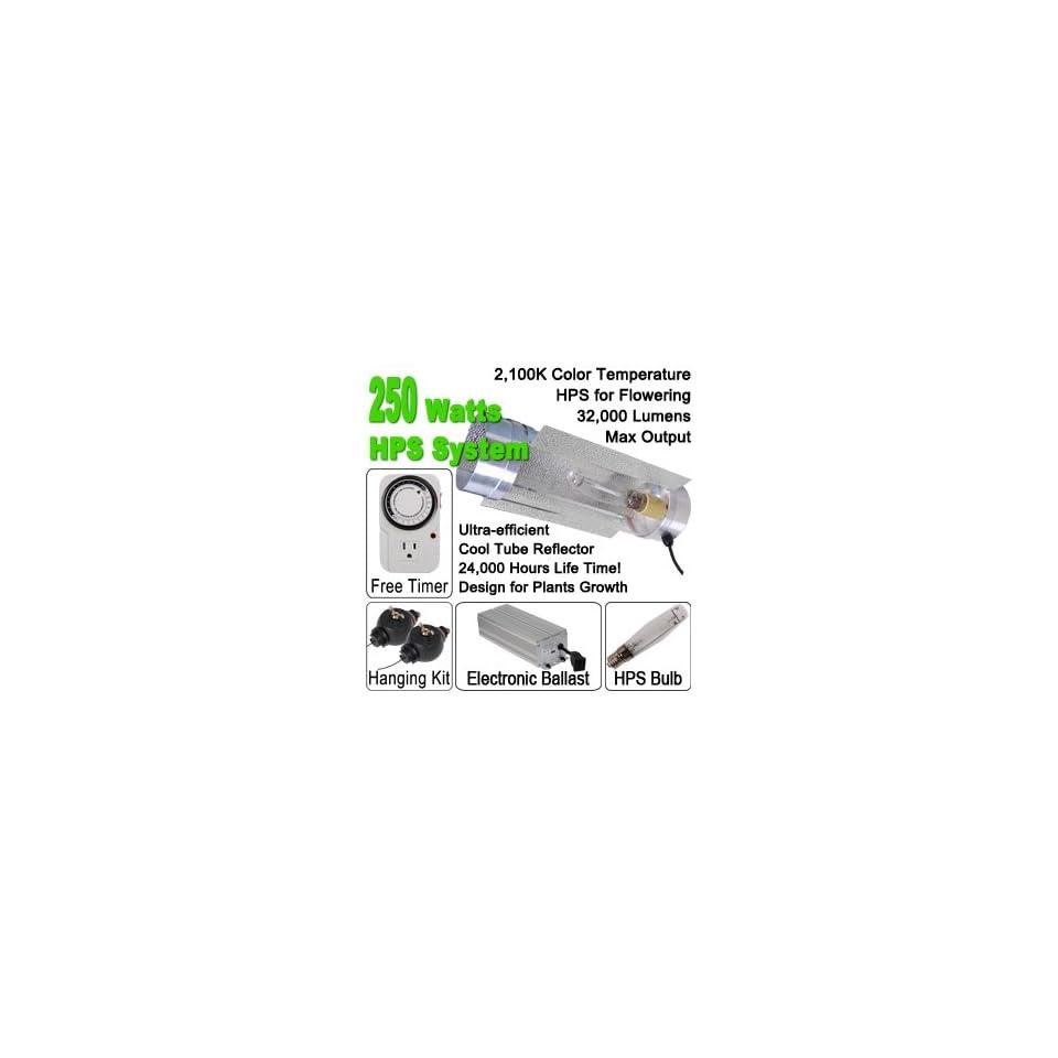 250 Watt HPS Grow Light Electronic Ballast Cool Tube Kit